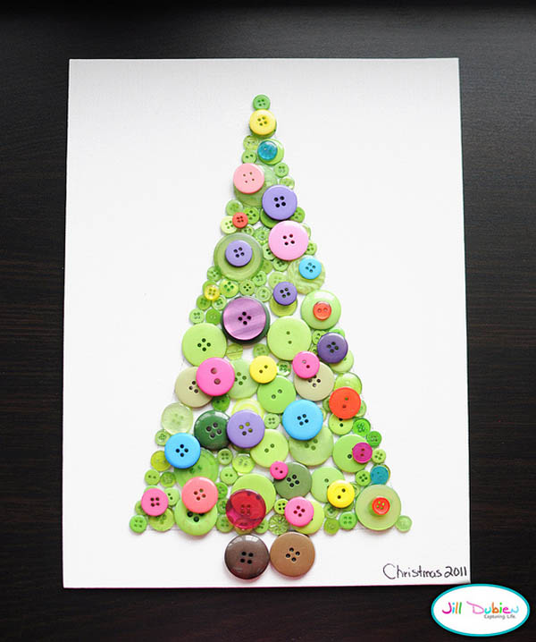 Exceptional Kids Crafts Ideas For Christmas Part - 7: Button-christmas-tree