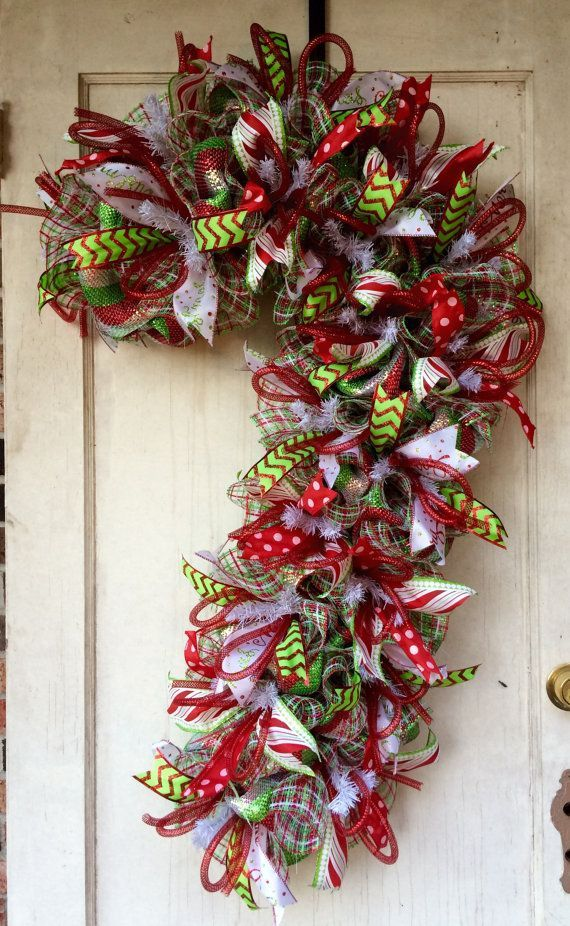 christmas mesh wreaths winter wreaths - Christmas Mesh