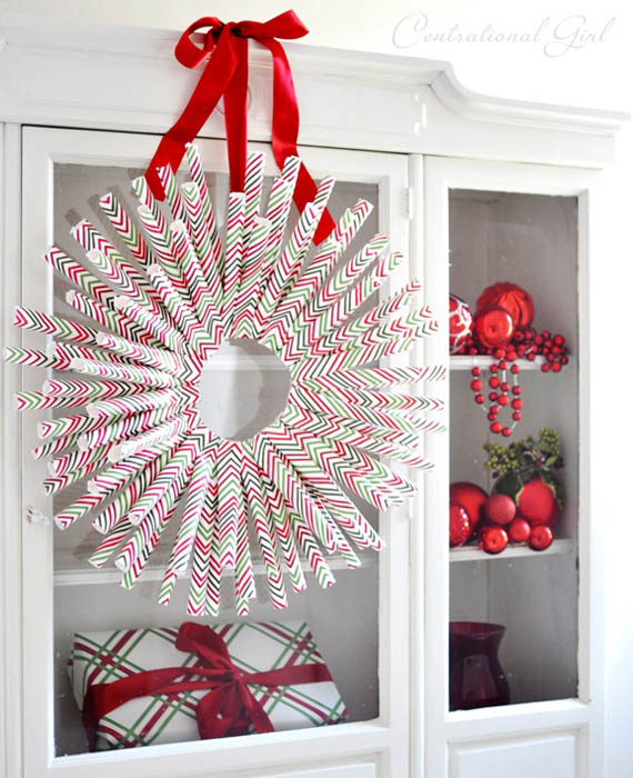 50 amazing christmas wreath decorating ideas 2016 for Xmas decoration ideas 2016