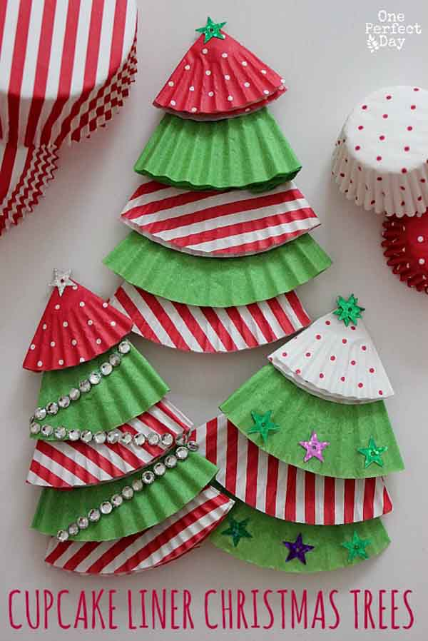 cupcake-liner-christmas-tree-ornaments