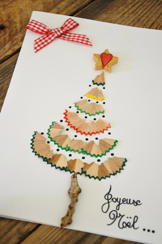 pencil shavings christmas tree