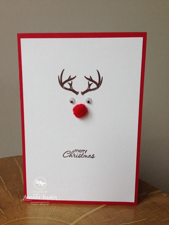 Best easy diy christmas card ideas christmas celebration all easy rudolph christmas card m4hsunfo