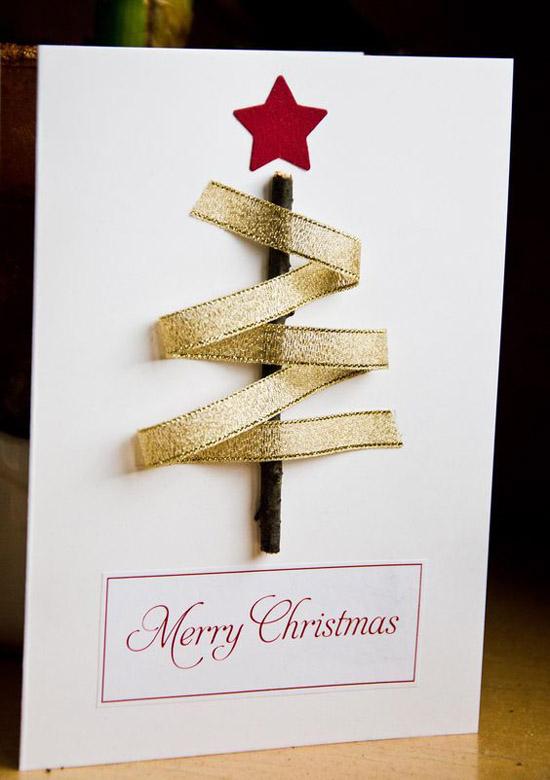 Easy Ribbon Tree Card