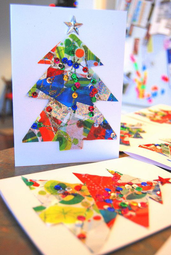 Christmas Card Making Ideas For Kids Part - 49: Easy Christmas Card Craft For Kids