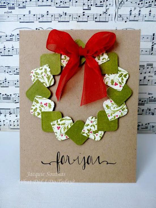 Рождественская открытка своими руками на английском, цветами