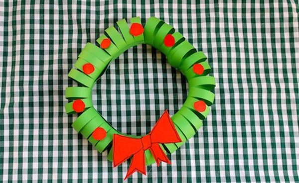 easy-paper-christmas wreath