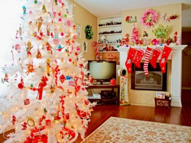 decorating living room for christmas. enchanting christmas decorating ideas for living room Easy Christmas Decorating Ideas  Celebrations