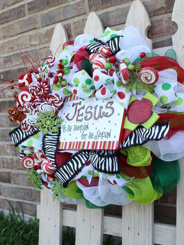 mesh christmas wreaths image etsy