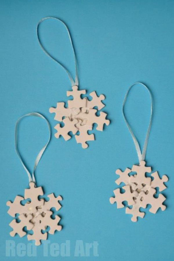 puzzle pieces christmas ornament puzzle pieces christmas craft