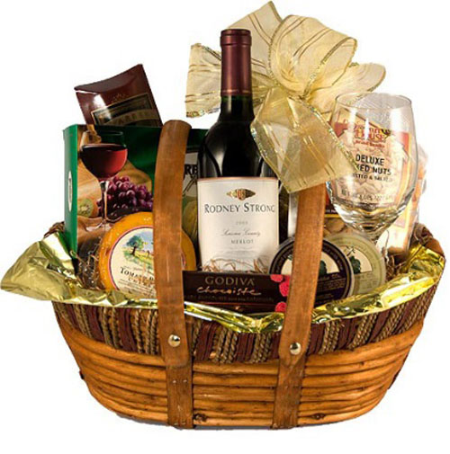 wine gift basket for couples