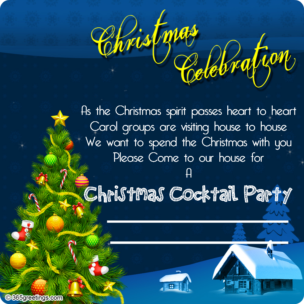Christmas Invitation Template And Wording Ideas Christmas Celebration - Employee christmas party invitation template