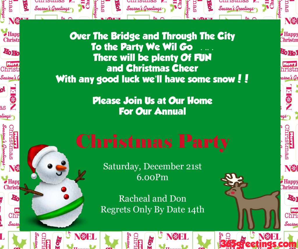 Christmas Party Invitation Ideas