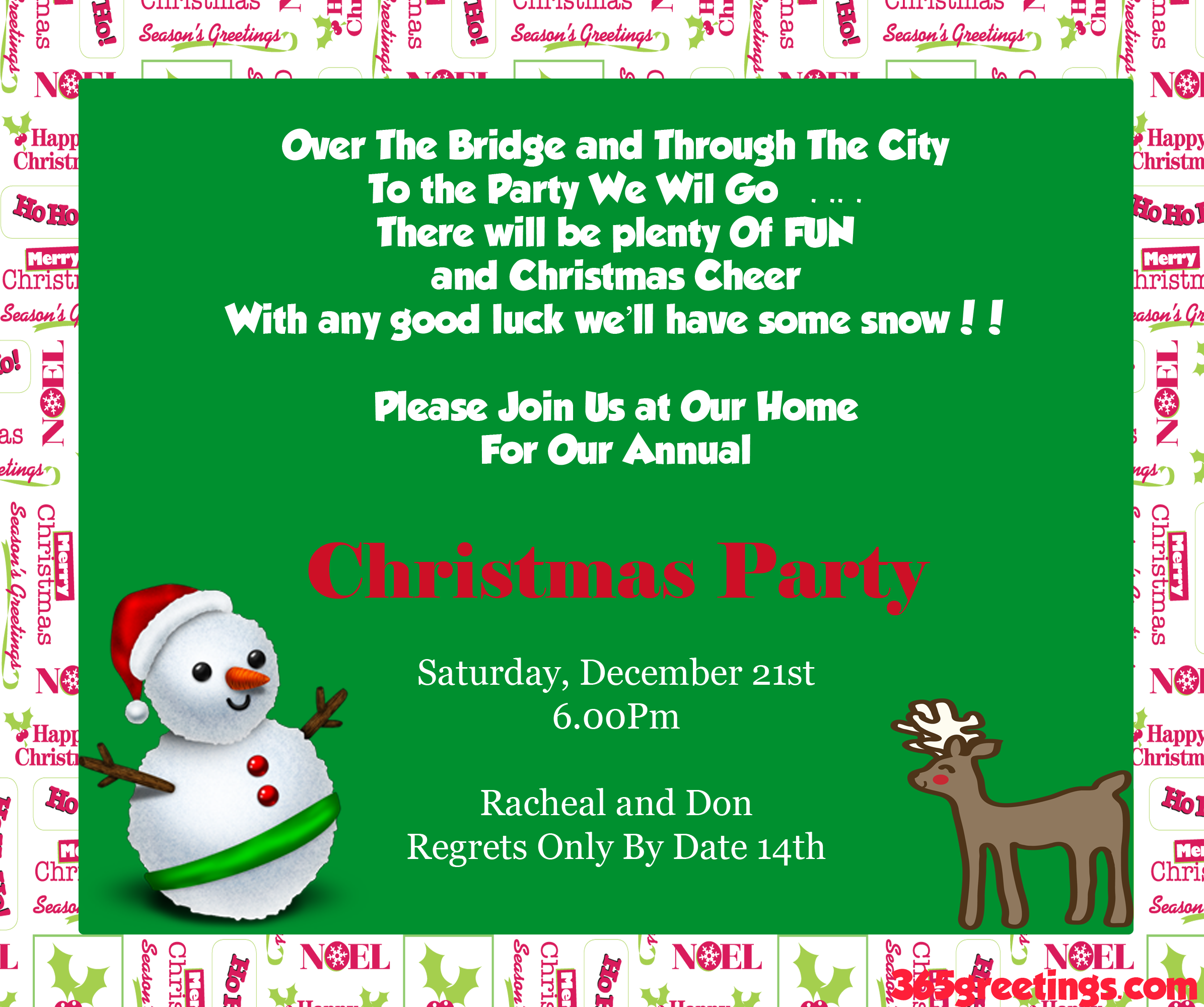 Christmas Party Invitation Ideas - Christmas Celebrations