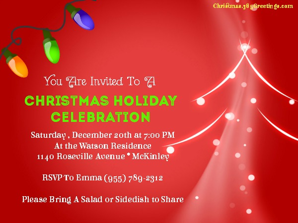 Christmas Party Invitation Ideas Christmas Celebrations – Christmas Party Invitation Card