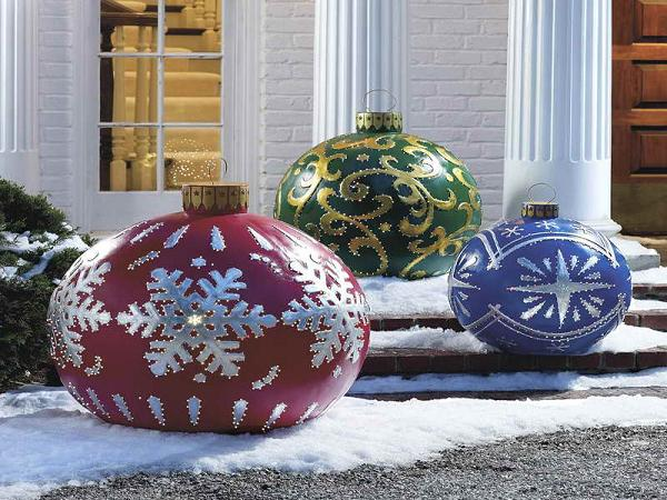homemade outdoor christmas decorations ideas