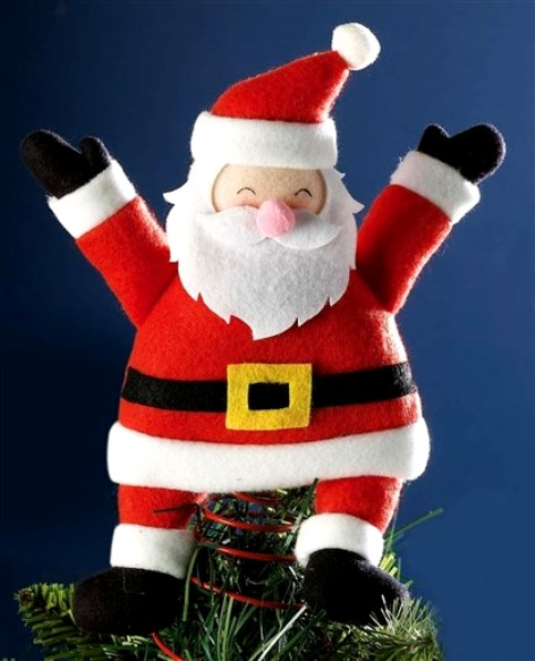 cute santa claus christmas tree topper httpchristmas maniablogspotcom