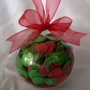 Not all party favors have to be expensive and elaborate. Photo Credit: http://www.formomsandkids.com/images/products/ball-ornament.jpg