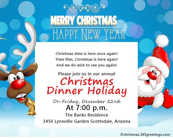 christmas invitation template 8
