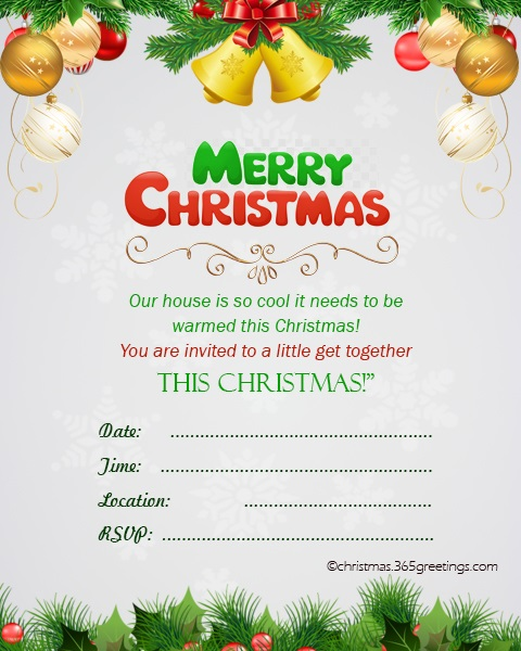 Christmas Gift Exchange Poem.Christmas Invitation Template And Wording Ideas Christmas