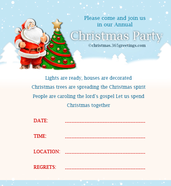 Christmas Party Invitation Wording Ideas Part - 47: Christmas Invitation Template 8. Sample #2