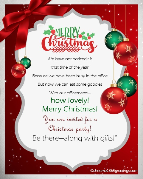 Christmas Invitation Template And Wording Ideas ...