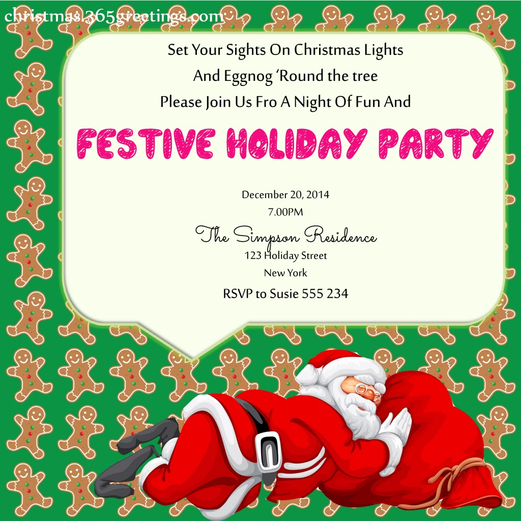 Ideas For A Work Christmas Party: Christmas Party Invitation Ideas