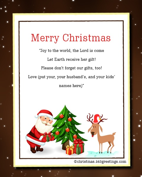 Christmas Party Invitation Wording Santa Note Card