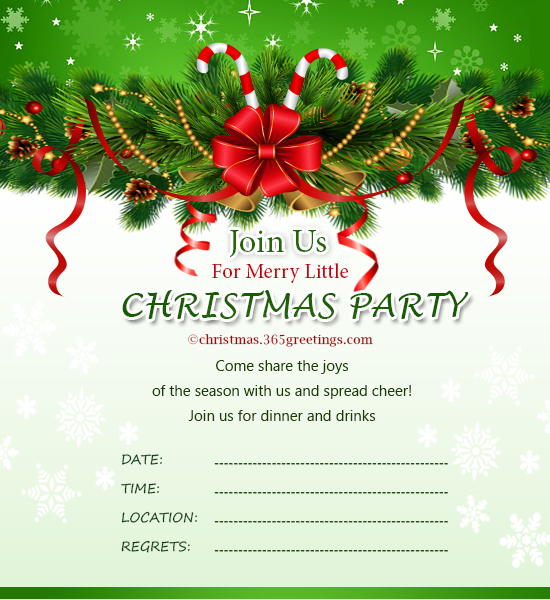 Free Christmas Templates  Gala Invitation Wording
