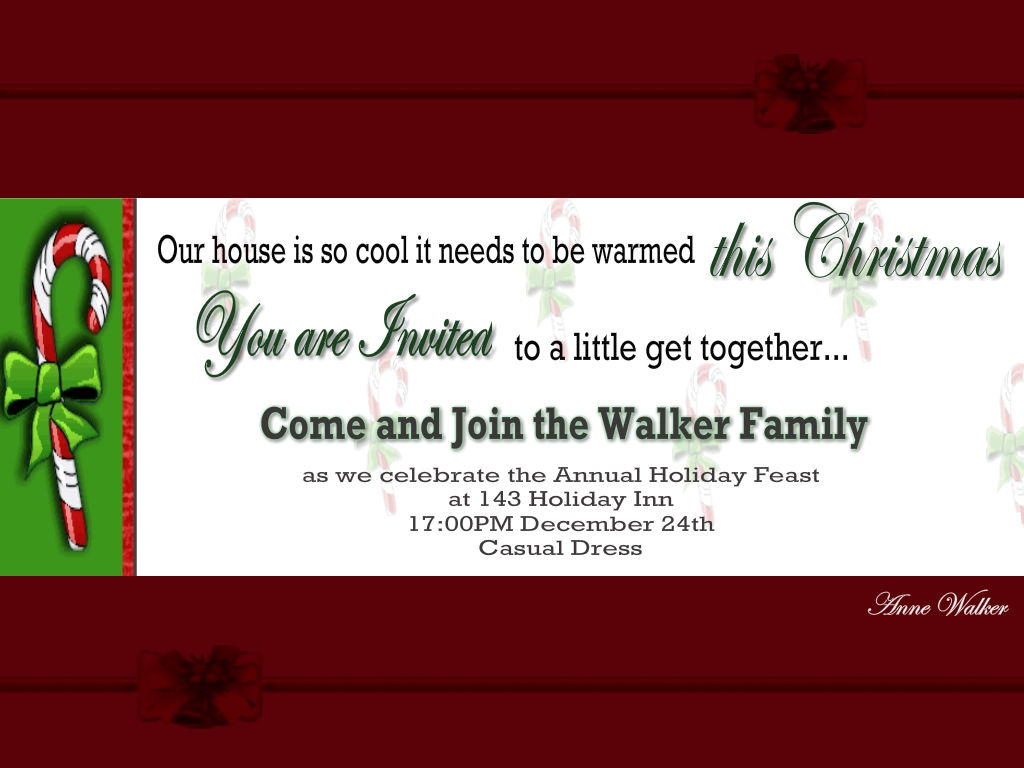 Christmas Invitation Wording Ideas Christmas Celebrations – Christmas Party Invitation Card