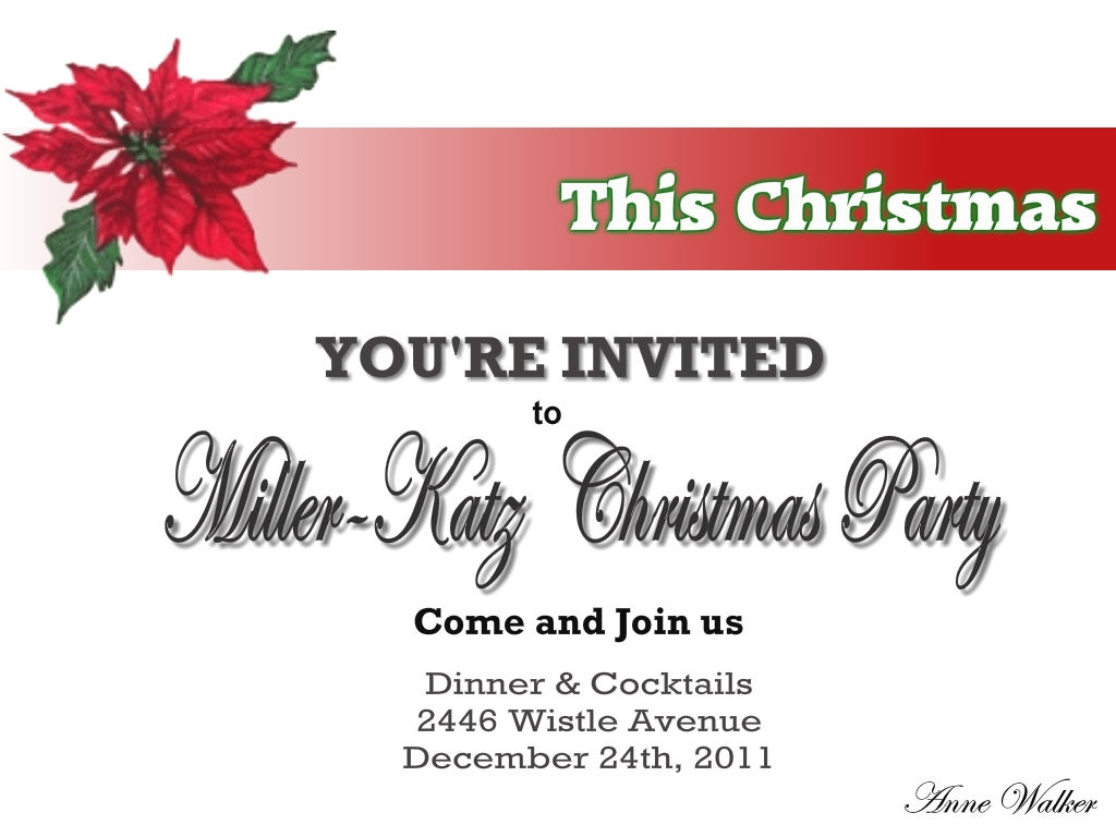 Christmas Party Invitation Wording Ideas Part - 48: Christmas Invitation Wording Ideas Christmas Celebrations, Party Invitations