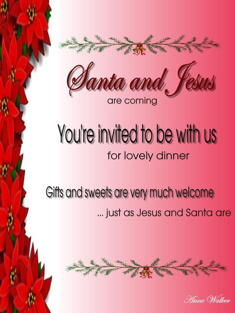 Christmas Eve Invitation Wording