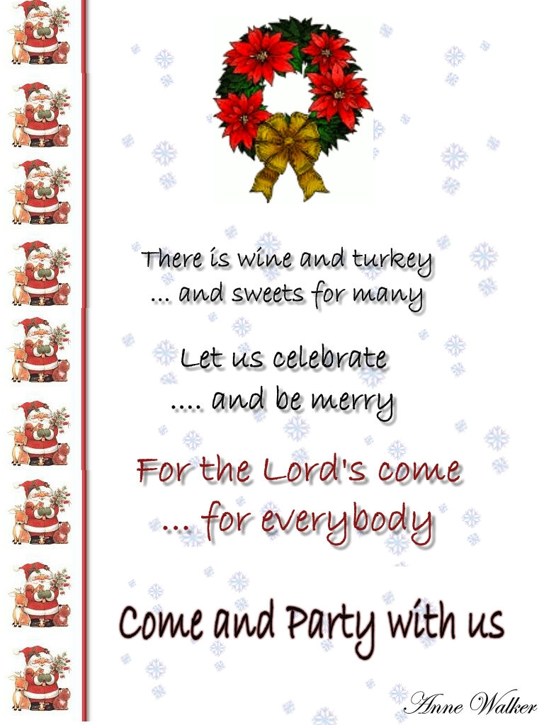 Invitation Wording Ideas Christmas Celebrations