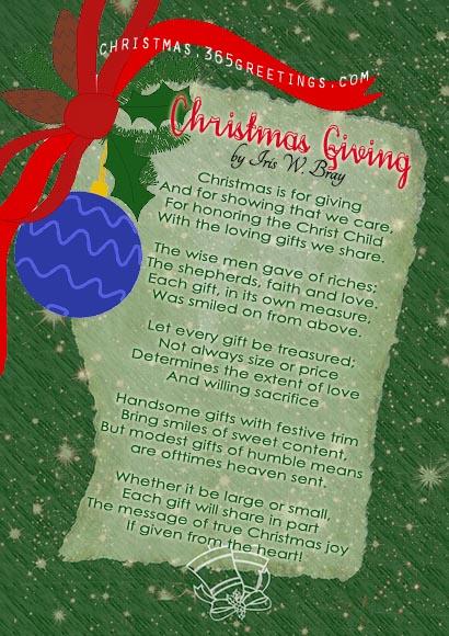 Short Christmas Poems Christmas Celebration All About Christmas