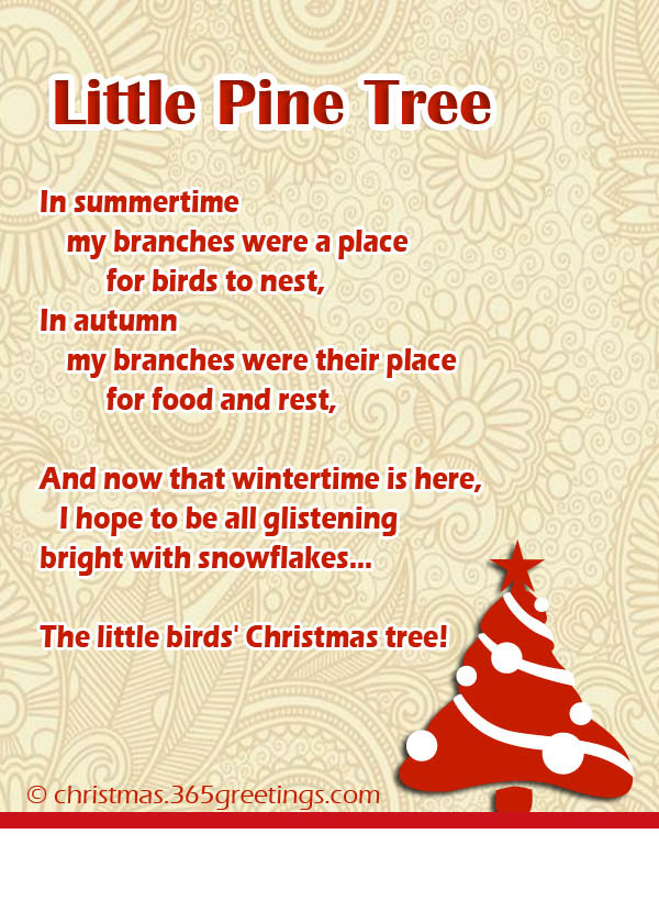 christmas poems about christmas tree