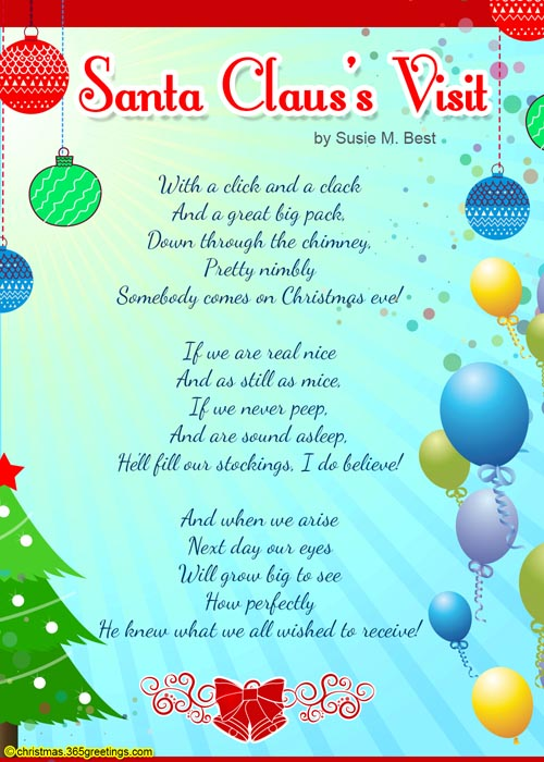 Christmas poems for kids christmas celebration all about christmas christmas poems cards spiritdancerdesigns