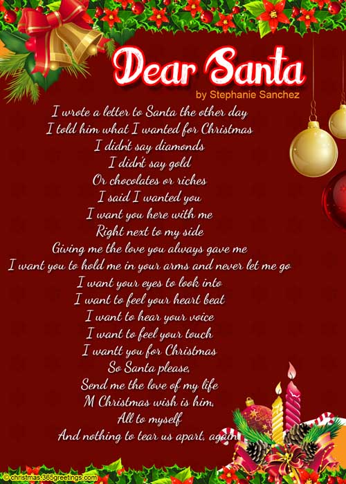 Christmas poems for kids christmas celebration all about christmas christmas santa poems spiritdancerdesigns Images