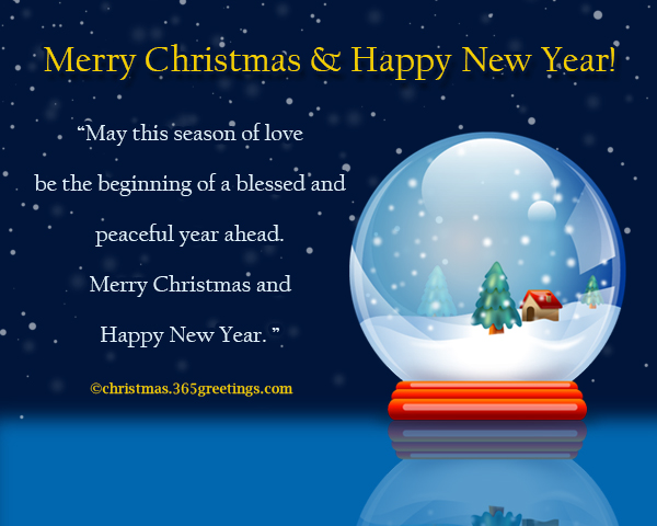 may this season of love be the beginning of a blessed and peaceful year ahead merry christmas and happy new year