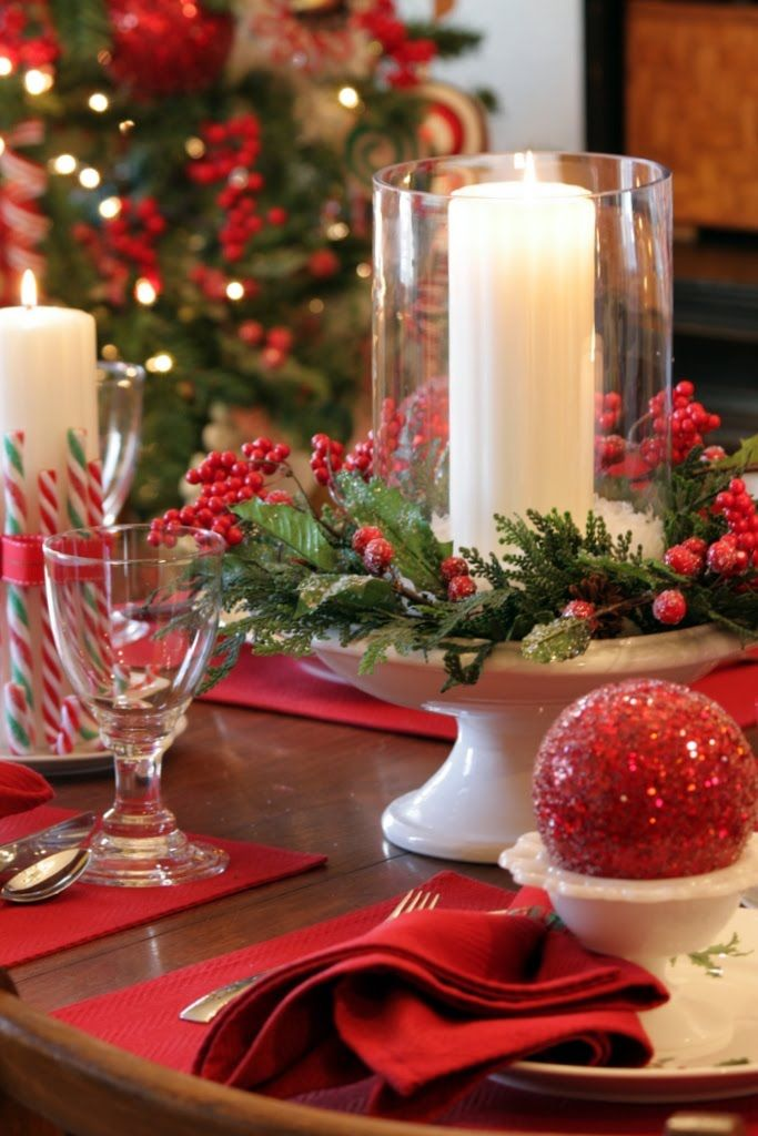 Homemade christmas decorations and centerpieces