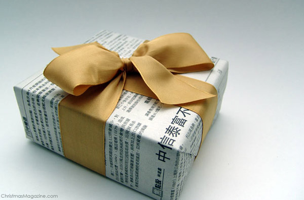 christmas-wrapping-ideas-using-newspaper