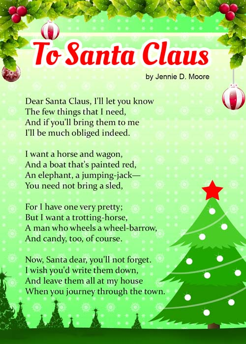 Dear Santa Christmas Poems