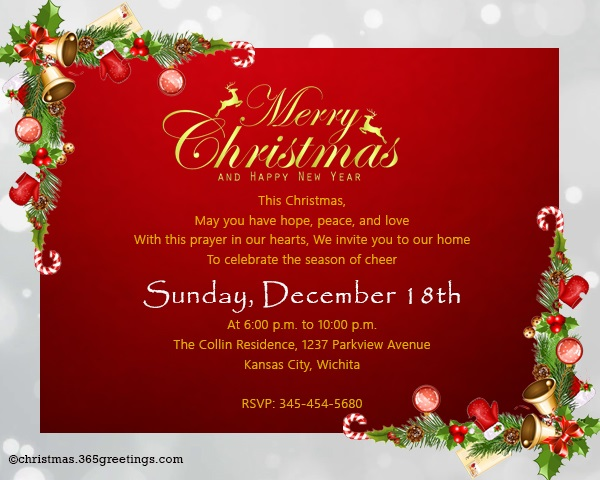 Christmas invitation template and wording ideas christmas christmas dinner invitation wording stopboris Gallery