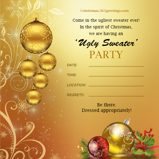 Christmas Invitation Template And Wording Ideas Christmas Celebration All About Christmas