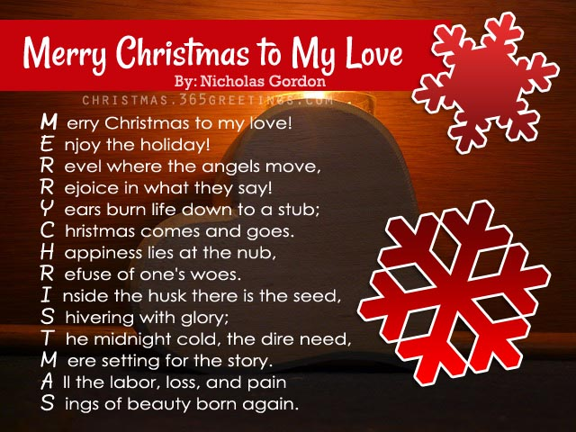 merry christmas short poems