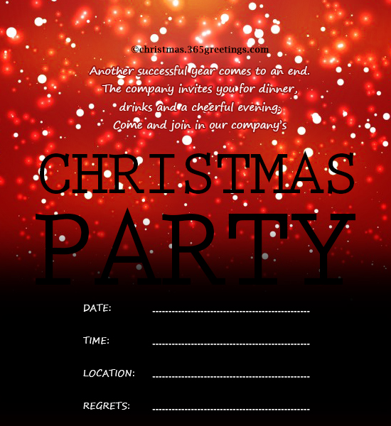 Christmas Invitation Template And Wording Ideas Christmas Celebration - Party invitation template: office christmas party invite template