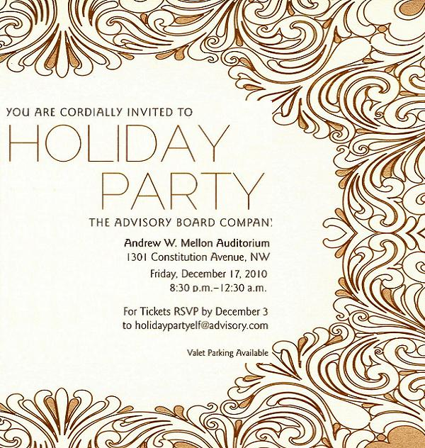 Office Christmas Party Invitations  Gala Invitation Wording