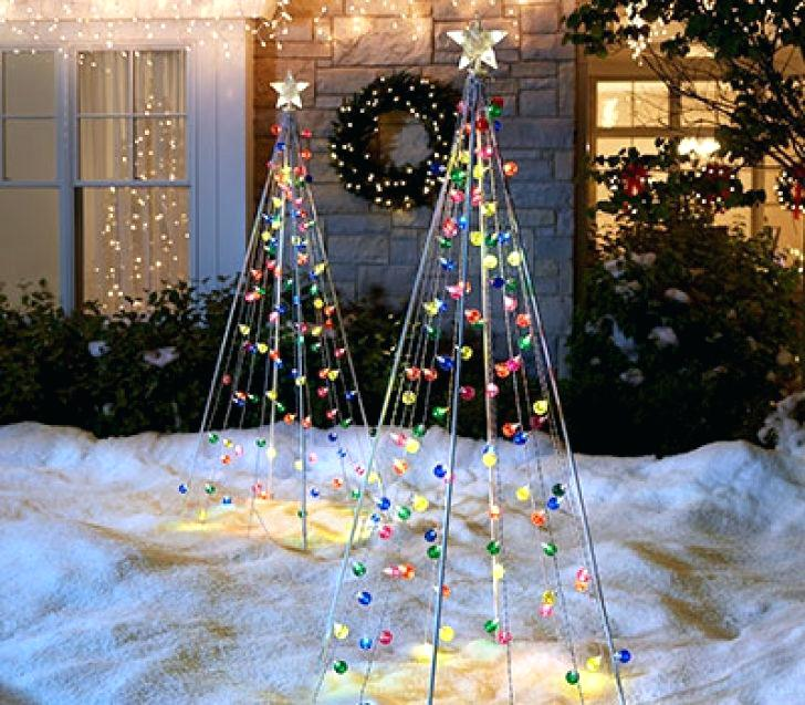 outdoor christmas yard decorations - Christmas Tree Yard Decorations