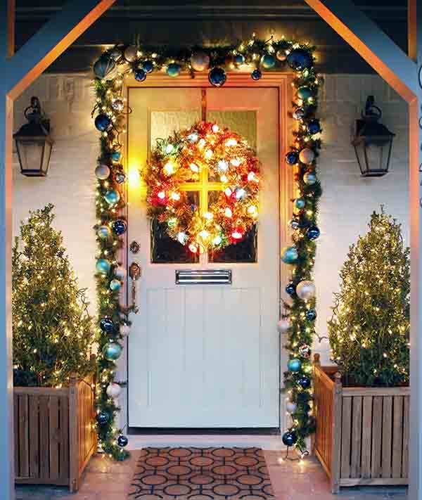 outdoor christmas decoration ideas - Front Door Christmas Decorations Ideas
