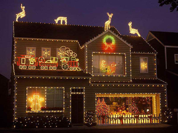outdoor lighted christmas decorations - Outside Lighted Christmas Decorations