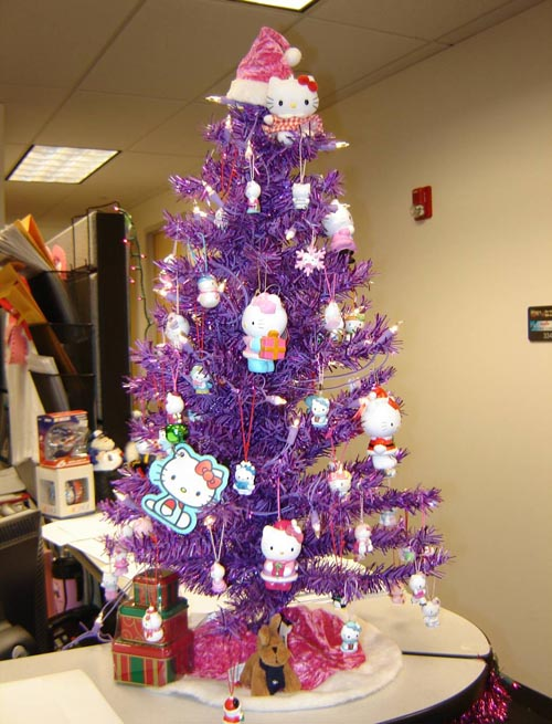 purple christmas tree decorating ideas