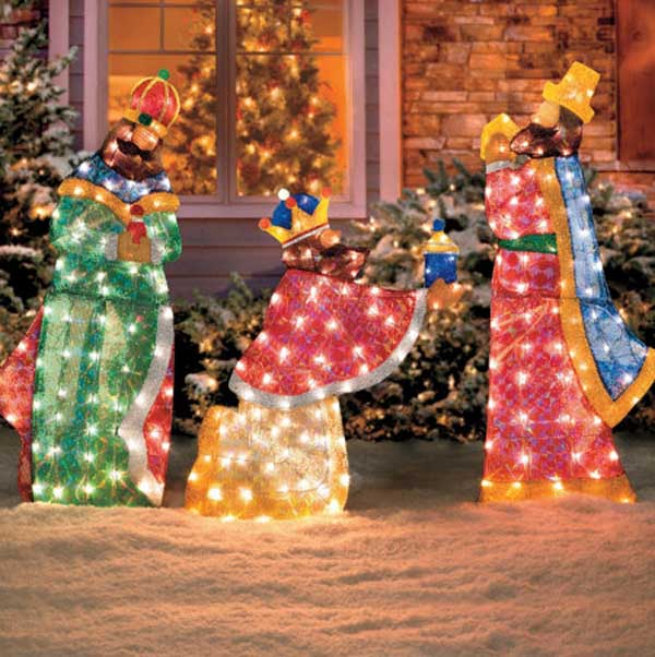 religious outdoor christmas decorations - Outdoor Tinsel Christmas Decorations